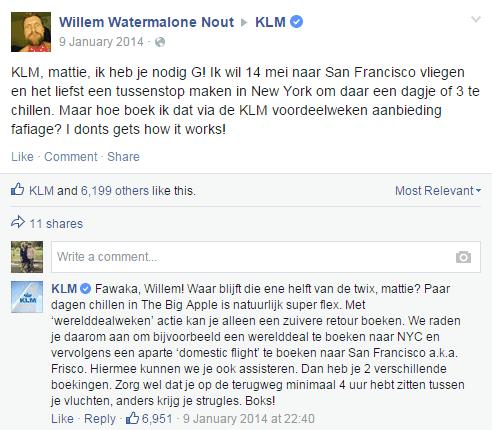 KLM klantenservice